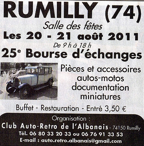 rumilly bourse vehicules anciens